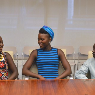 The Queen of Katwe Family: Lupita Nyong'o, Madina Nalwanga and Martin Kabanza #QueenOfKatweEvent