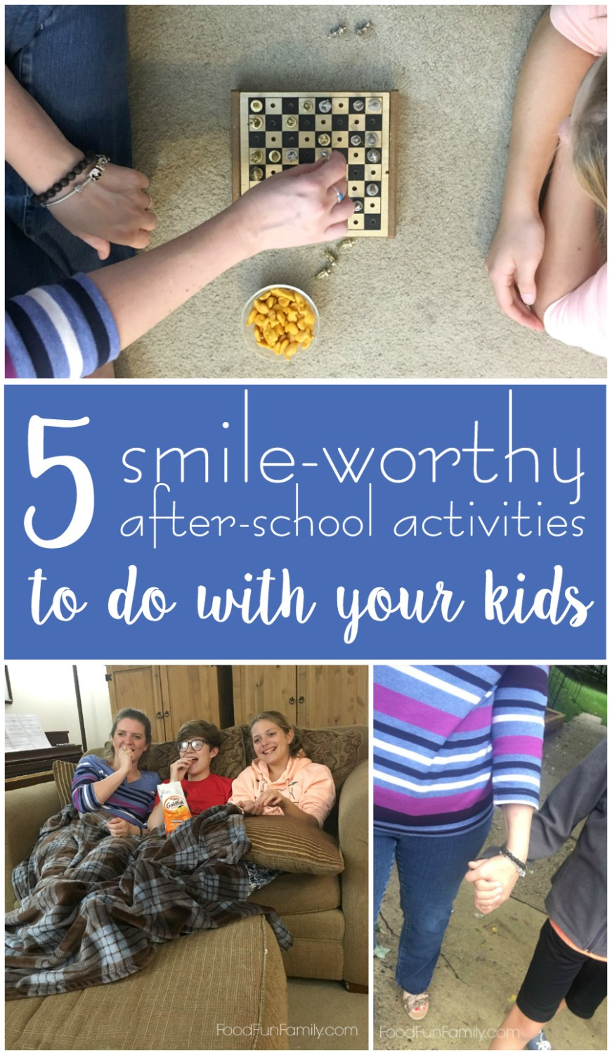 5 Smile-Worthy after-school activities to do with your kids #GoldfishSmiles