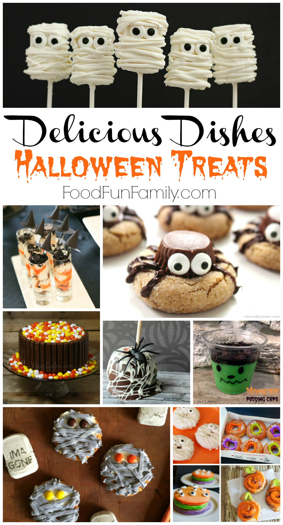 Delicious Dishes Recipes Party #40 - Halloween treats that the whole family will love at Food Fun Family