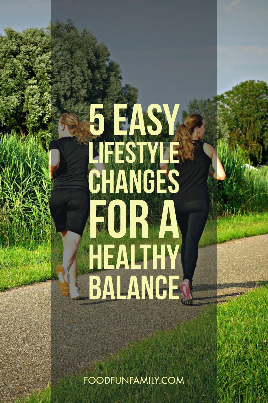 Five Easy Lifestyle Changes for a Healthy Balance - forget New Year's Resolutions and goals you'll never keep. These tips are easy to follow and make a huge difference in the way you feel.