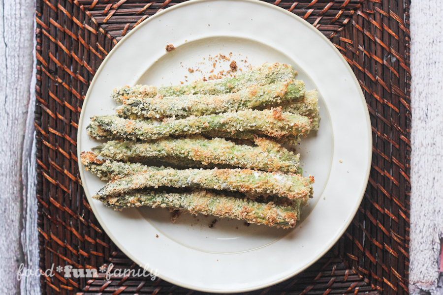 Baked Asparagus Fries with Kikkoman panko bread crumbs