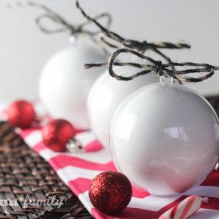 DIY Peppermint Bath Bomb Ornaments