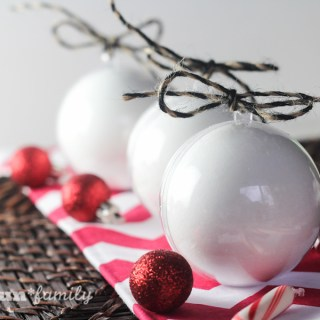 DIY Peppermint Bath Bomb Ornaments