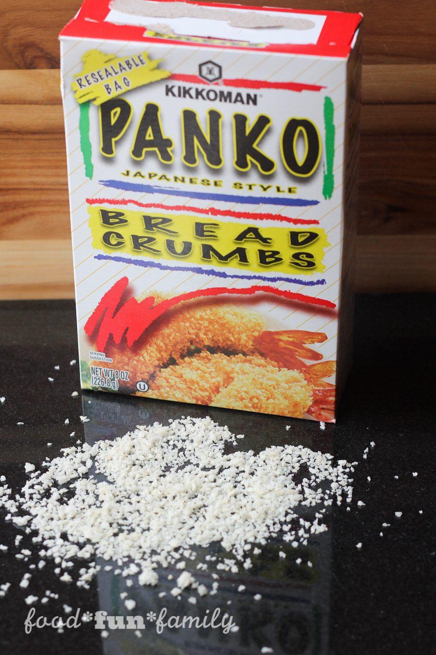Baked Asparagus Fries with Kikkoman panko bread crumbs