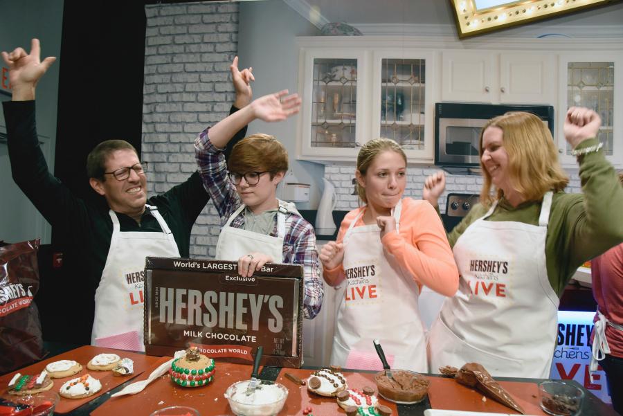 Hershey's Kitchens LIVE cooking show at Hershey's Chocolate World