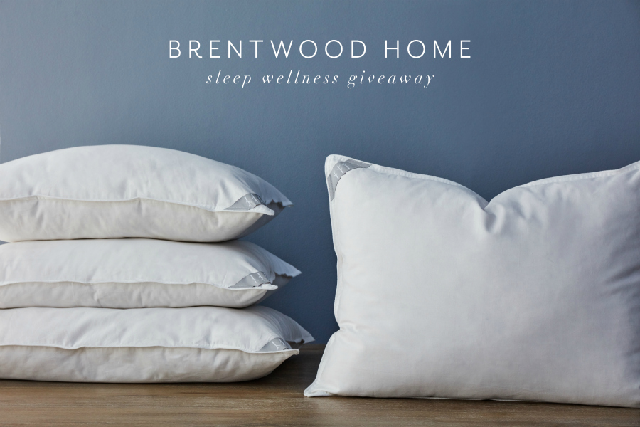 Brentwood Home Sleep Wellness Giveaway Pillow Bundle