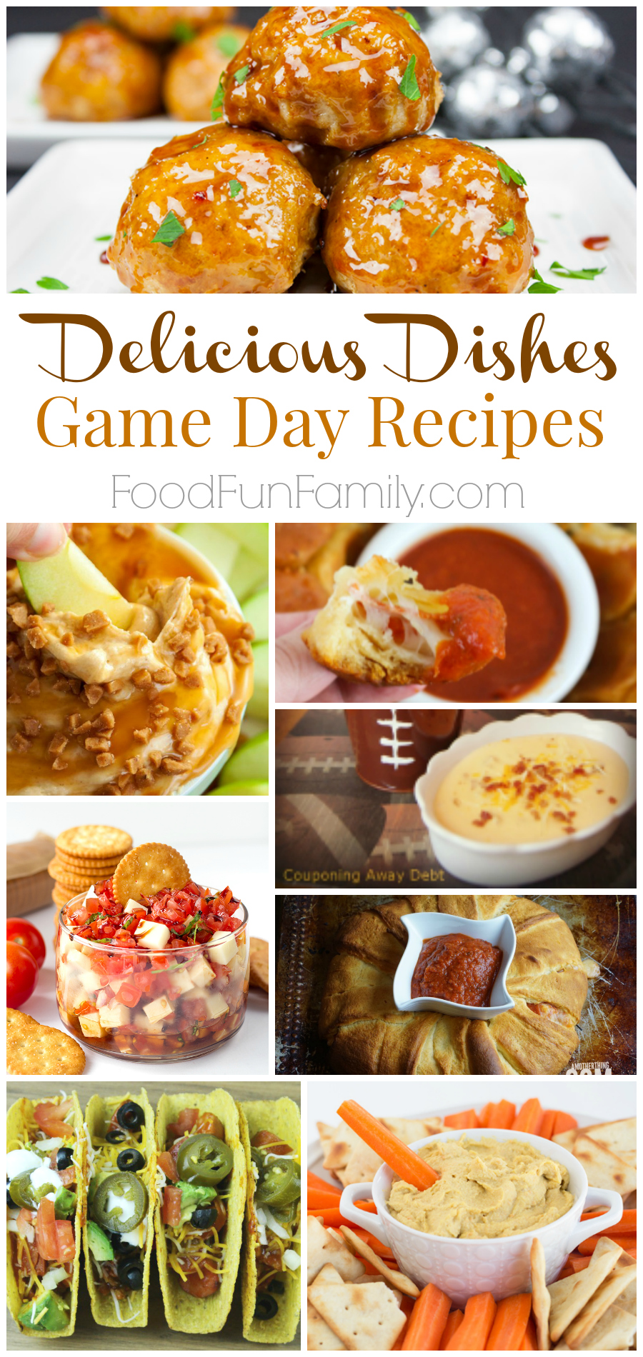 Delicious Dishes Game Day Recipes - all sorts of recipes that are perfect for your Big Game party!