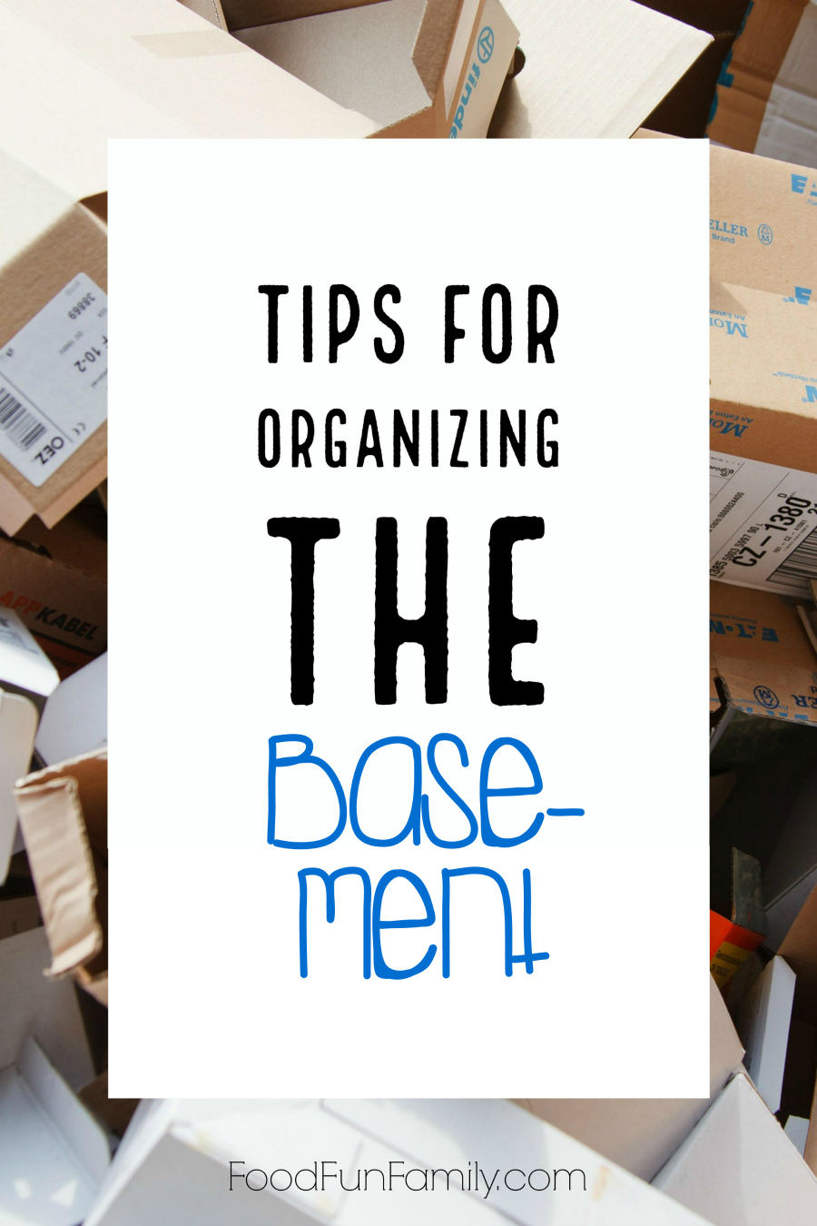Tips for organizing the basement