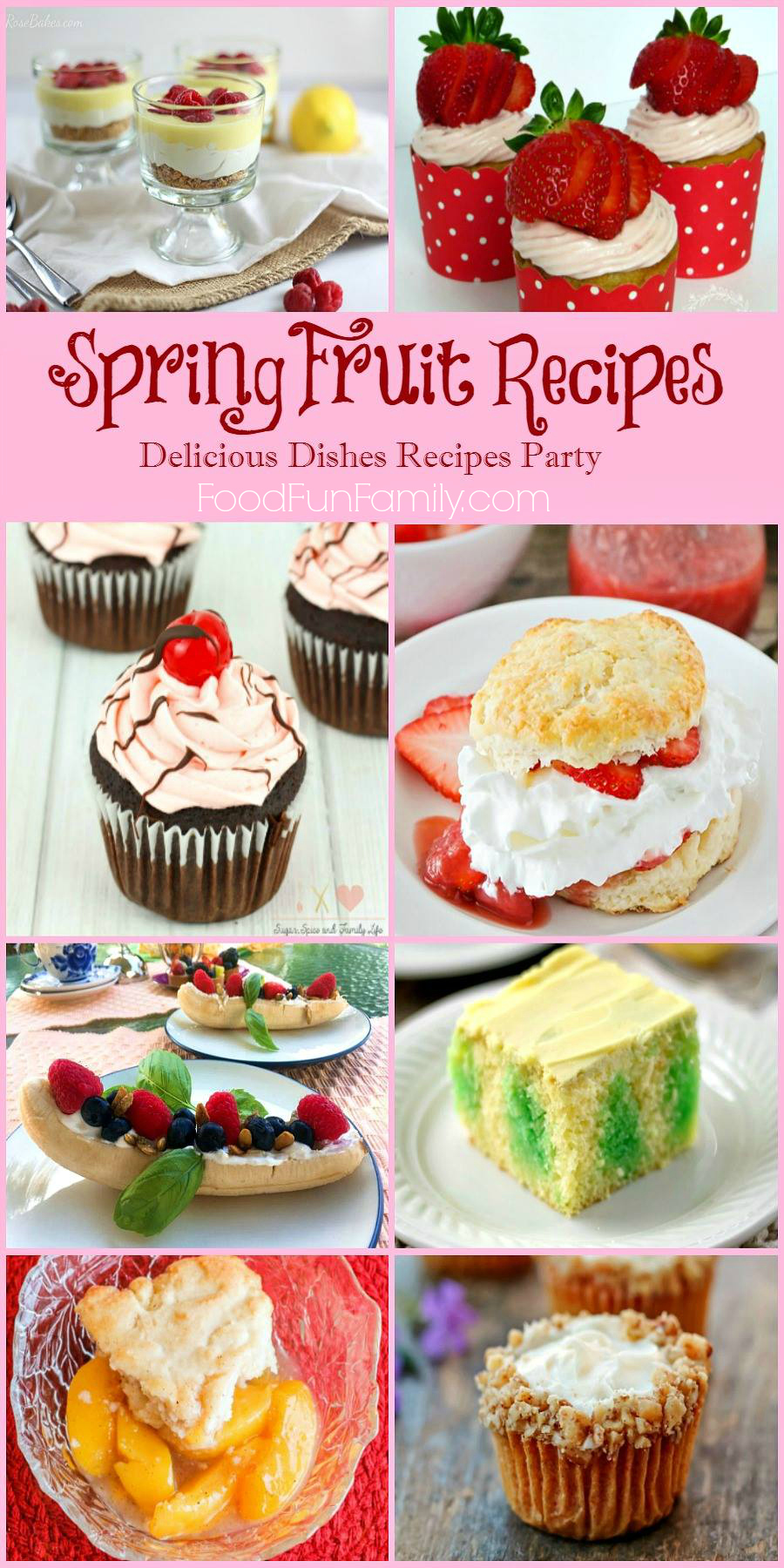 Delicious Spring Fruit Recipes - Dishes Recipe Party at FoodFunFamily.com