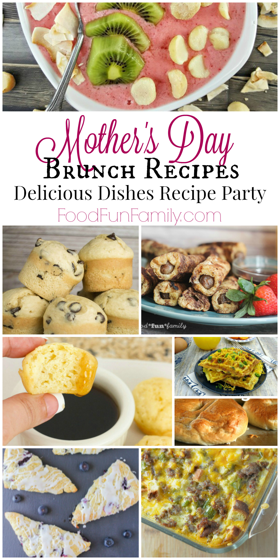 Mother's Day brunch recipes - a Delicious Dishes Recipe Party round up from Food Fun Family