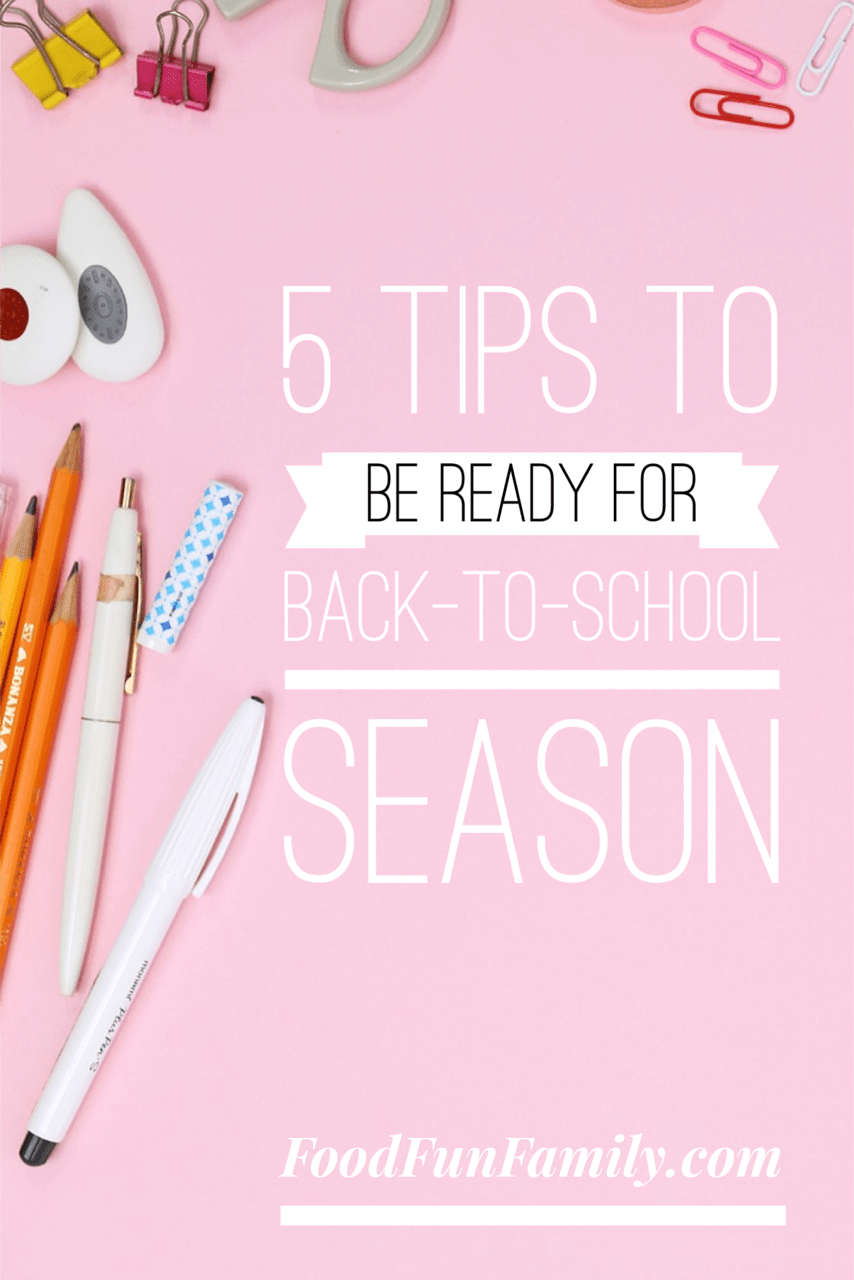 5 tips to be ready for back-to-school season