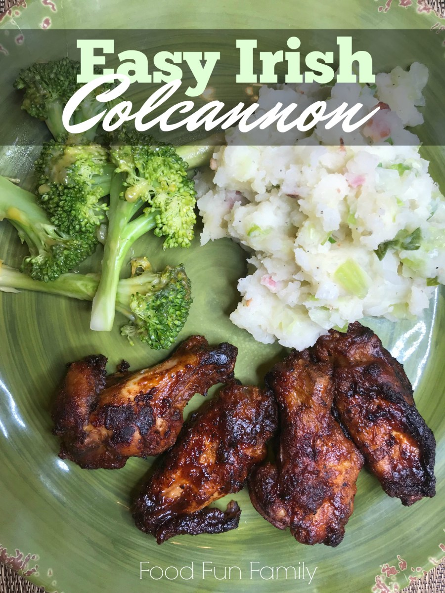 Easy Irish Colcannon and Cooked Perfect Fire Grilled Chicken