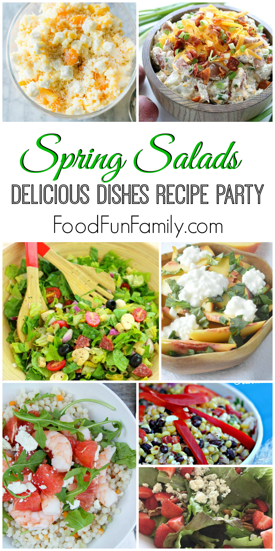 Delicious Spring Salads - a Delicious Dishes Recipe Party collection from Food Fun Family