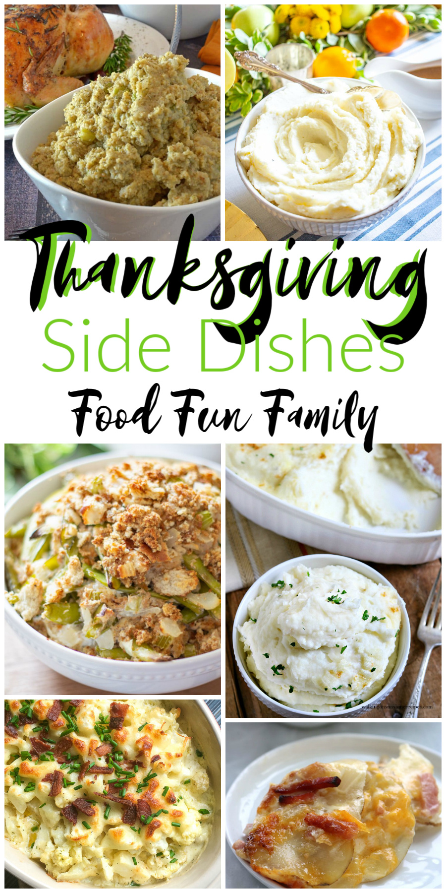 Thanksgiving Side Dishes - a Delicious Dishes Recipe Party with Food Fun Family