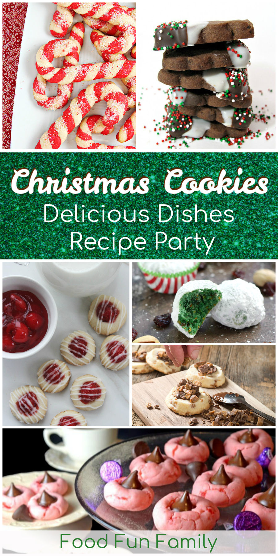 Festive Christmas cookies - perfect for sharing and cookie plates! A Delicious Dishes Recipe Party collection with Food Fun Family