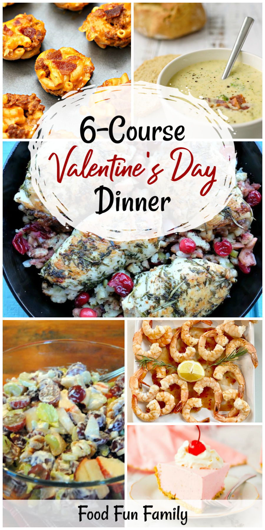 6-Course Valentine's Day dinner - a Delicious Dishes Recipe Party with Food Fun Family