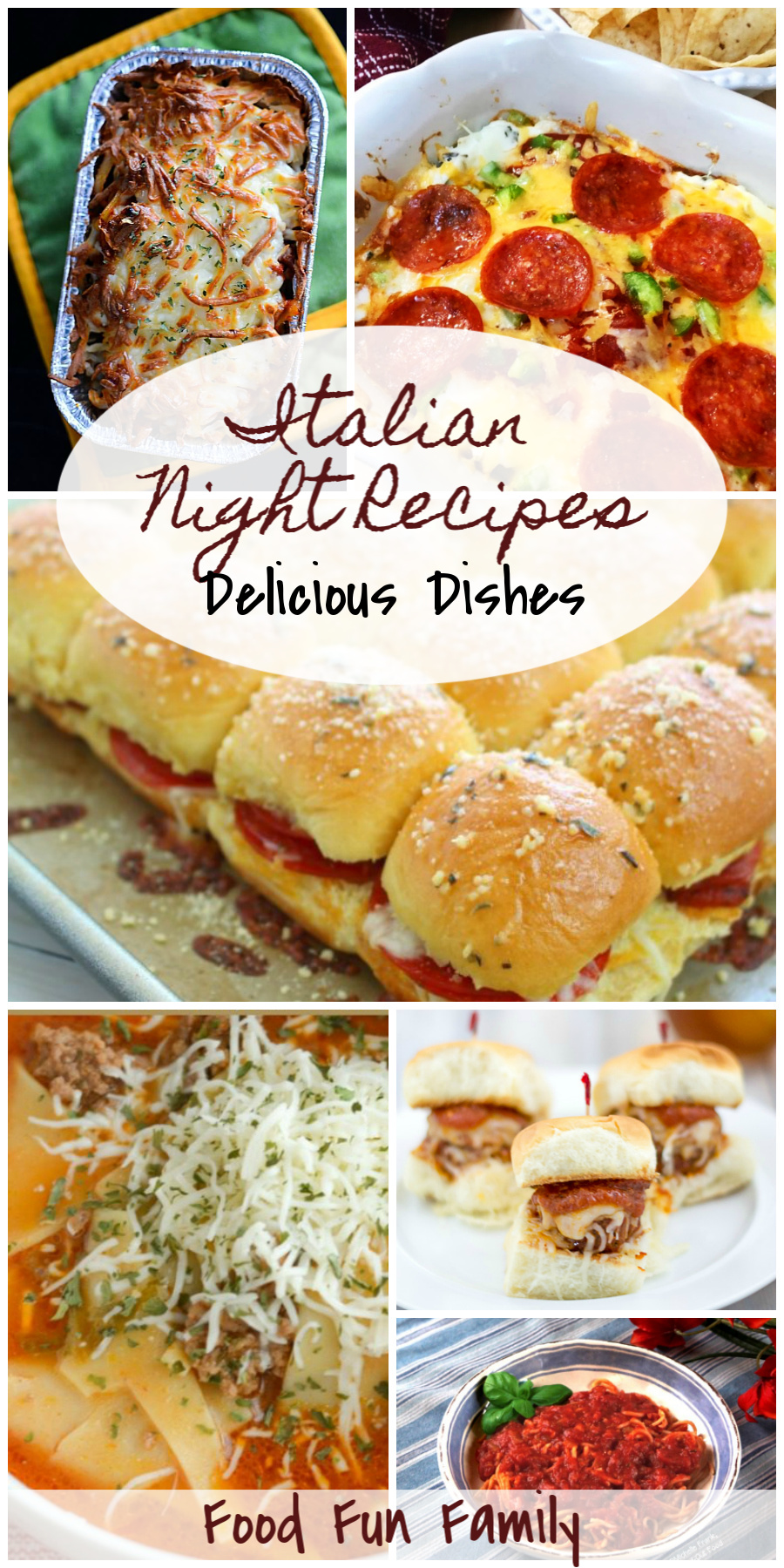 Italian night recipes - a Delicious Dishes Recipe Party with Food Fun Family