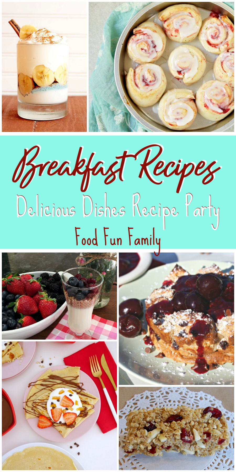 Tasty Breakfast recipes - a Delicious Dishes Recipe Party collection with Food Fun Family