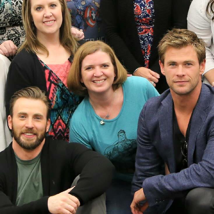 Me with Captain America and Thor