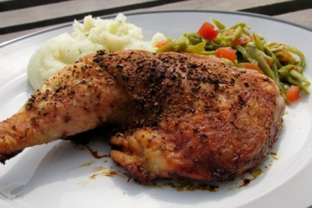 Baked Chicken Recipes Oven Bone In With Rice
