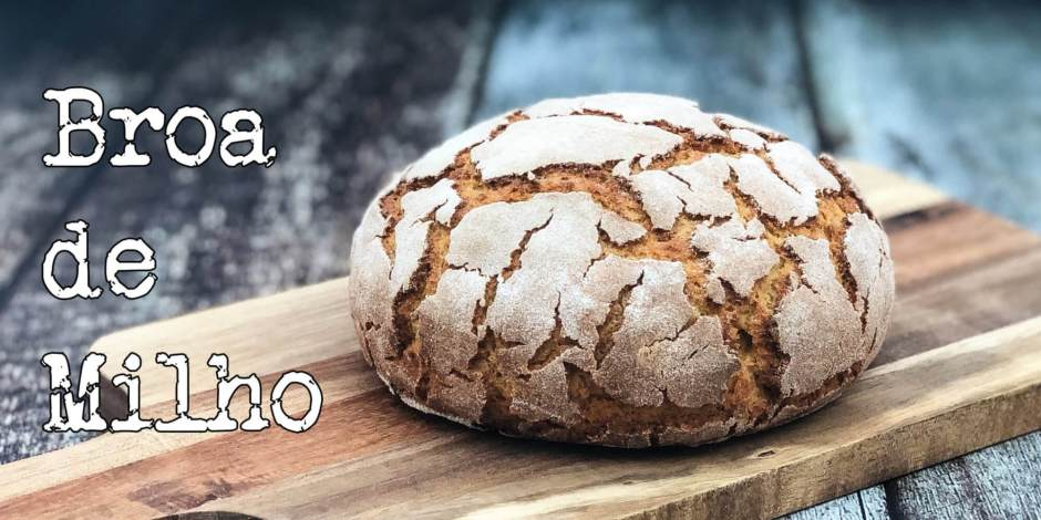 Broa de Milho opskrift - Smukt krakeleret brød