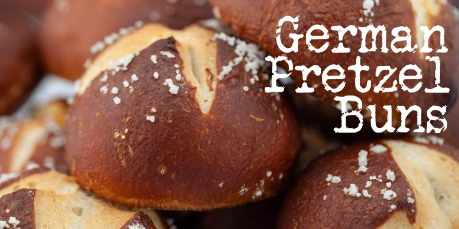 German Pretzel Buns Recipe