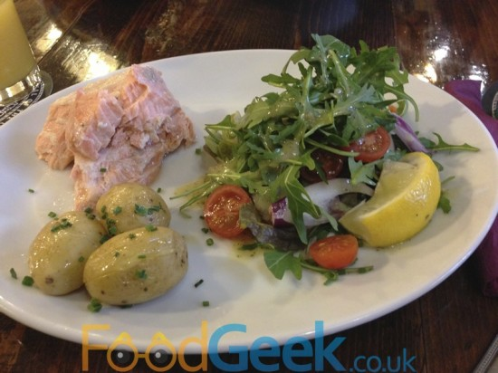 Poached Salmon Salad & Buttered Potatoes