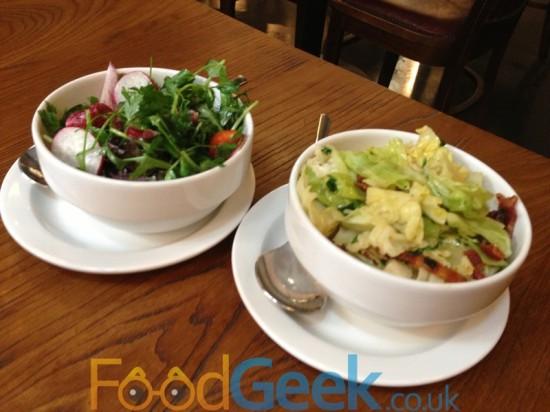 Mixed Salad & Cabbage & Bacon