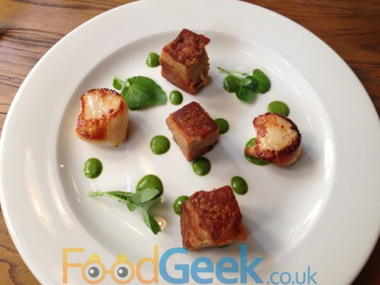 Scallops & Slow-cooked Belly Pork