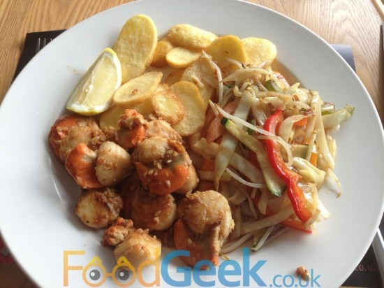 Scallops with Ginger & Garlic