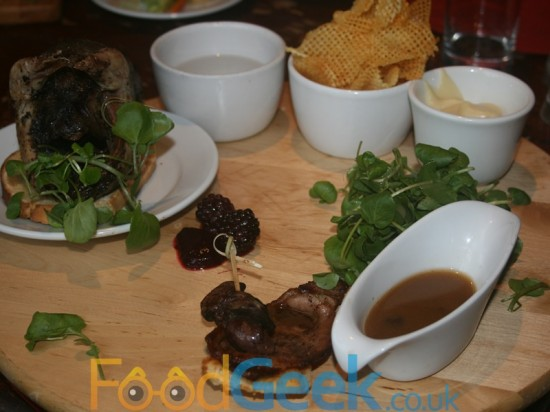 Gamekeeper Menu: Grouse Platter