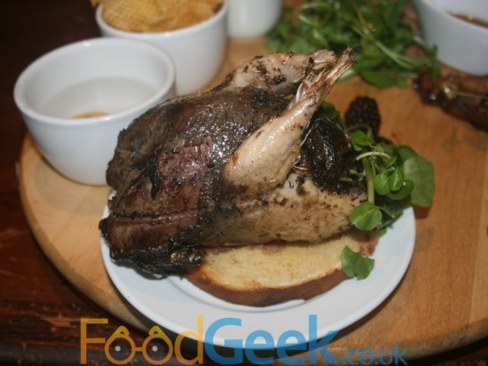 Gamekeeper Menu: Whole young grouse