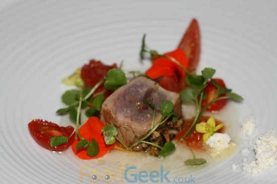 Tuna Sashimi with Textures Of Tomato