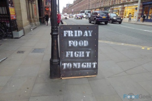 Sign Outside - Friday Food Fight