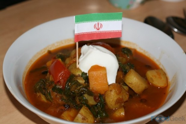 Iranian Vegetable Stew with Dried Limes & Barberries