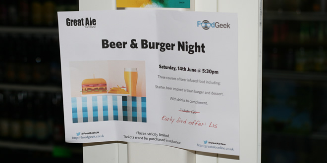 Burgers & Beer @ Great Ale Year Round, Bolton (Yes, I'm reviewing myself again!)