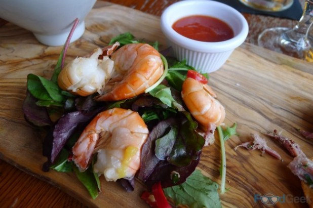 King Prawns with Spiced Pineapple & Chilli Sauce