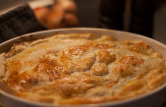 Lækker kylling og champignon tærte!