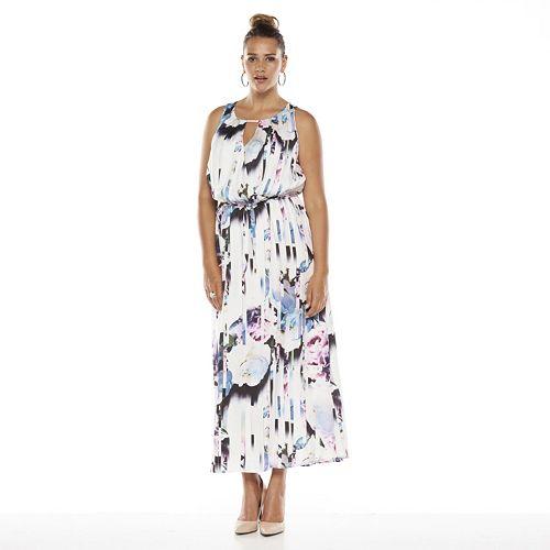 Kohls - Jennifer Lopez Floral Crossover Maxi Dress