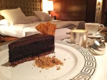 Crispy Chocolate Devil's Cake with room service