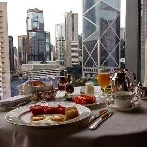 Room service breakfast with a view