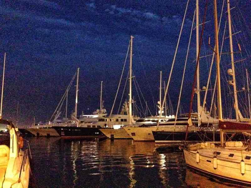 Endless sea of boats, catamarans, and yachts