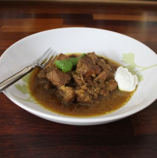 Instant Pot Pork Vindaloo Finished Dish