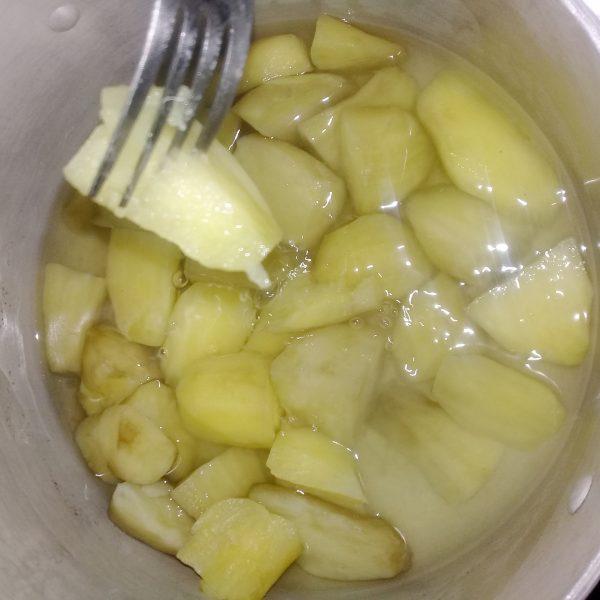 Boiled potato for potato porridge