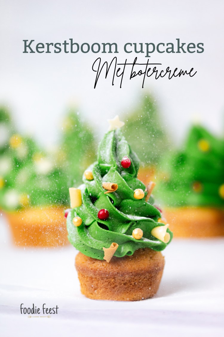 kerstboom cupcakes recept
