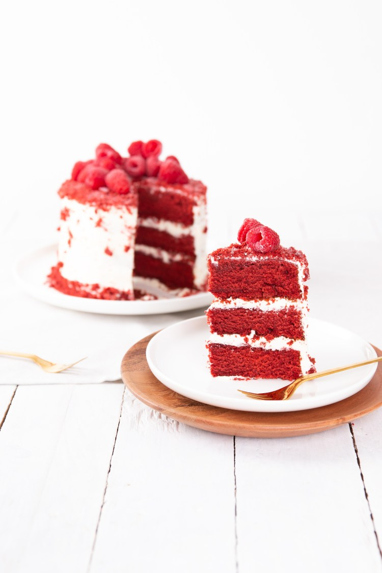 red velvet taart met cream cheese frosting