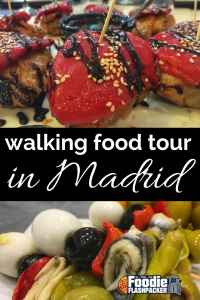 Spain is one of my favorite countries in the world, and a foodie heaven, so I knew I had to do a walking food tour of Madrid during my visit.