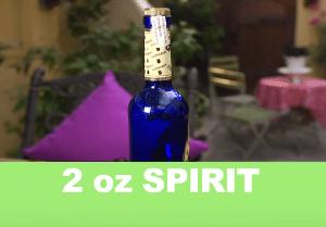 Blue Bottle of reposada tequilla foodie gardener