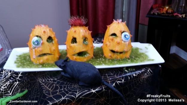 Kiwano melon monsters for halloween melissas produce