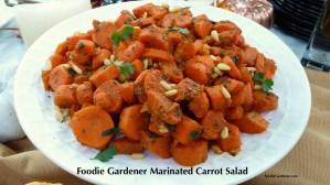 Foodie Gardener Marinated Mediterranean Carrot Salad